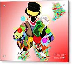 Jolly Juggler Acrylic Print by Belinda Threeths