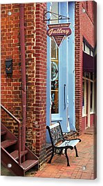 Jonesborough Tennessee Main Street Acrylic Print by Frank Romeo
