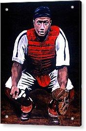Josh Gibson - Catcher Acrylic Print by Ralph LeCompte