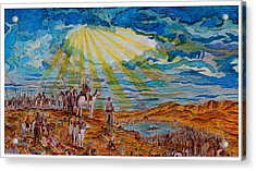 Joshua Commands The Sun To Stand Still After Dore Acrylic Print by Jacob Stempky