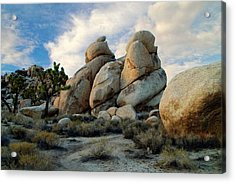 Joshua Tree Rock Formations At Dusk  Acrylic Print by Glenn McCarthy Art and Photography