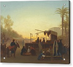 Journey To Cairo Acrylic Print by Charles Theodore Frere