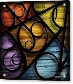 Joy-joy-joy-abstract Acrylic Print by Shevon Johnson
