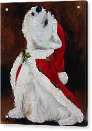 Joy To The World Acrylic Print by Mary Sparrow