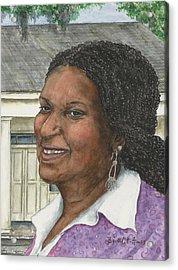 Joyce Acrylic Print by Barbel Amos