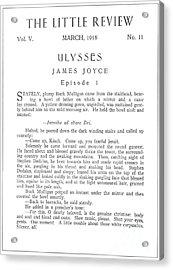 Joyce: Ulysses, 1918 Acrylic Print by Granger