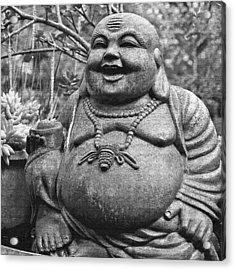 Joyful Lord Buddha Acrylic Print by Karon Melillo DeVega