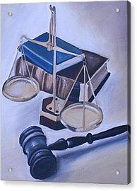 Judge Scales Acrylic Print by Mikayla Ziegler
