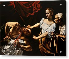 Judith And Holofernes Acrylic Print by Caravaggio
