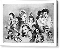Judy And Liza Acrylic Print by Carl Wolfe