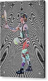 Juggler Vortex Acrylic Print by John Haldane