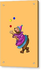 Juggling Bear  Acrylic Print by David Michael  Schmidt