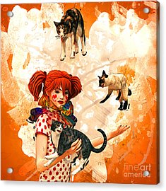 Juggling Cats Acrylic Print by Methune Hively
