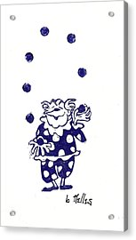 Juggling Clown Acrylic Print by Barry Nelles Art