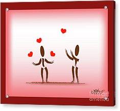 Juggling Love Acrylic Print by Linda Seacord
