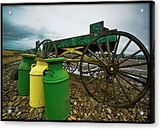 Jugs And Wagon Acrylic Print by Dale Stillman