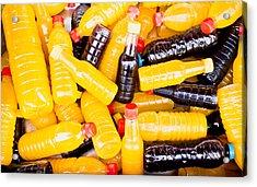 Juice Bottles Acrylic Print by Tom Gowanlock