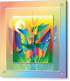 Jungle Sunset Acrylic Print by Jack Potter