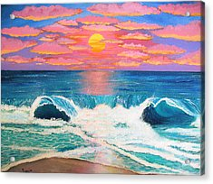 Just Another Red Sky Day Acrylic Print by Just Joszie