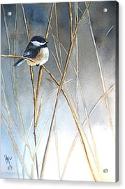 Just Thinking Acrylic Print by Patricia Pushaw