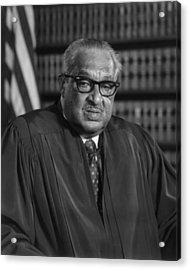 Justice Thurgood Marshall 1908-1993 Acrylic Print by Everett