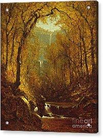 Kaaterskill Falls Acrylic Print by Sanford Robinson Gifford