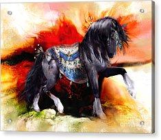 Kachina Hopi Spirit Horse  Acrylic Print by Shanina Conway