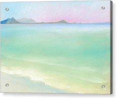 Kailua Sunrise Acrylic Print by Angela Treat Lyon