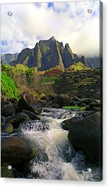 Kalalau Cathedral Acrylic Print by Kevin Smith