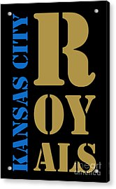 Kansas City Royals Typography Acrylic Print by Pablo Franchi