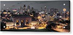 Kansas City Skyline Acrylic Print by Ryan Heffron