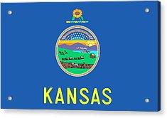 Kansas State Flag Acrylic Print by American School