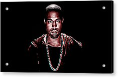 Kanye West Acrylic Print by Queso Espinosa