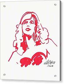 Kate Moss Acrylic Print by Seth Weaver