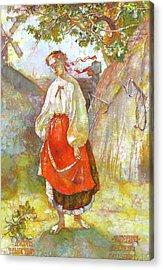 Kateryna Acrylic Print by Tanya Ilyakhova