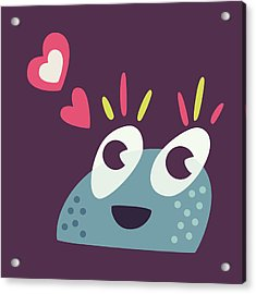Kawaii Cute Cartoon Candy Character Acrylic Print by Boriana Giormova