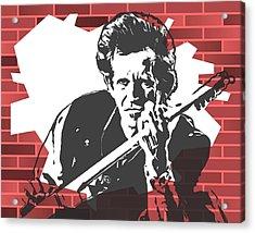 Keith Richards Graffiti Tribute Acrylic Print by Dan Sproul