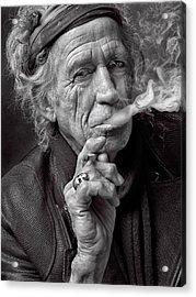 Keith Richards Acrylic Print by Hans Wolfgang Muller Leg