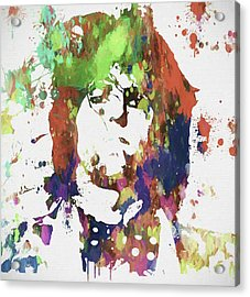 Keith Richards Paint Splatter Acrylic Print by Dan Sproul