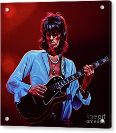 Keith Richards The Riffmaster Acrylic Print by Paul Meijering
