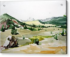 Kennedy Meadows The Dome Lands Acrylic Print by Amy Bernays