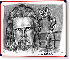 Kevin Nash Outsider Acrylic Print by Chris  DelVecchio