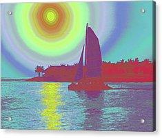 Key West Sun Acrylic Print by Steven Sparks