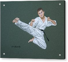 Kick Fighter Acrylic Print by Marna Edwards Flavell