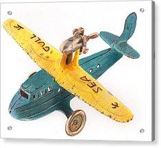 Kilgore Sea Gull Airplane Acrylic Print by Glenda Zuckerman