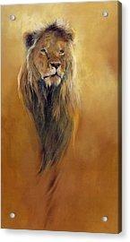 King Leo Acrylic Print by Odile Kidd