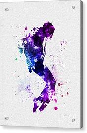 King Of Pop Acrylic Print by Rebecca Jenkins