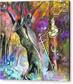 King Solomon And The Two Mothers Acrylic Print by Miki De Goodaboom