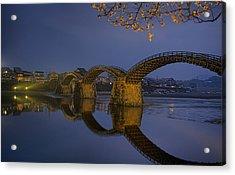 Kintai Bridge In Iwakuni Acrylic Print by Karen Walzer