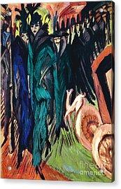 Kirchner: Street Scene Acrylic Print by Granger